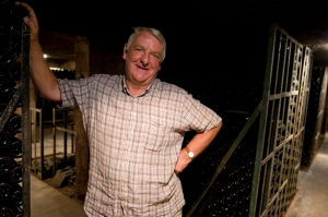 Maurice Chapuis, also the mayor Aloxe-Corton, in his cellar