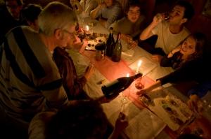 Claude fills the glasses @ Bonneau du Martray
