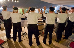 The usual Burgundian drinking songs were led by Le Vieux Cep de Corton with typical gusto and humour