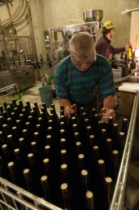 In Pernand-Vergelesses they are bottling at Bonneau du Martray