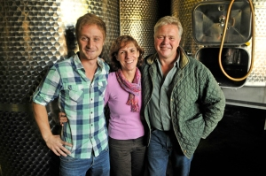 Julian, Barbara and Bernard Huber of Baden in Southern Germany