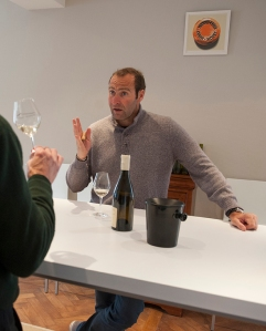 Pierre-Yves Colin makes his point during a tasting