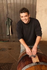 Guillaume Tardy cleans his barrels in Vosne-Romanée
