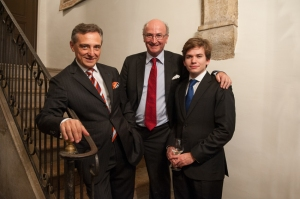 Pianist Michel Dalberto and Bernard Hervet with his cellist son Charles