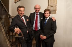 Pianist Michel Dalberto and Bernard Hervet with his cellist son Charles