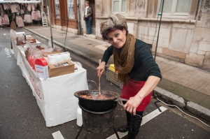 Slaving over a hot pan in rue Lorraine