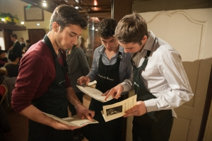 Meanwhile the guys check out the order of serving