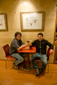 "But down the hill in Villafranca it seems  50% of the winemakers (Ricardo Perez Palacios, a.k.a.""Titìn"" and Raul Perez anyway ) finish work with a beer !"