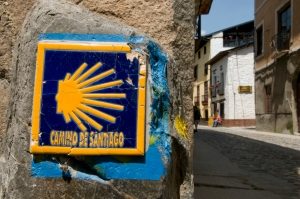 Following the Camino in towns is not always easy I would imagine, but in Villafranca del Bierzo there was no problem