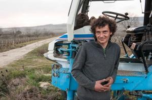 Arnaud Tessier ploughing in Meursault