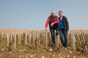 Jean Grivot and daughter Mathilde in Vosne-Romanée Aux Brûlées