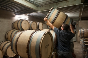 Getting the barrels ready at Chartron