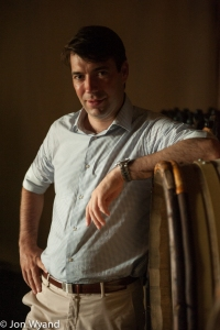 Ronan Laborde, owner of Chåteau Clinet since 2003, in his cellar