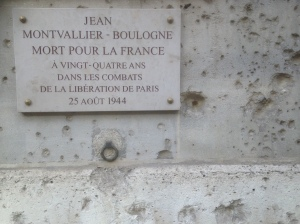 A wall near the Palais de Luxembourg in Paris.