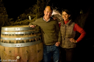 Brother and sister Francois and Claude de Nicolay at Domaine Chandon de Briailles in Savigny-les-Beaune