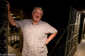 Maurice Chapuis, mayor of Aloxe-Corton, in his cellar. Brother of Claude Chapuis who wrote his own book about Corton thirty years ago and wrote the foreword to mine.