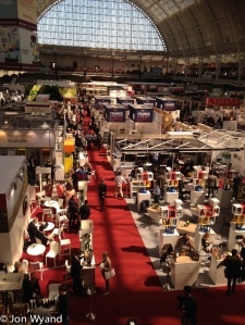 A sunny day at Olympia for the London Wine Fair