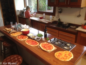 Relaxed Saturday lunch in Uruguay, DIY homemade pizza. Absolutely the best ever!