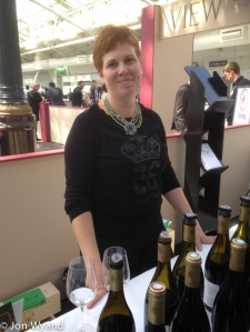 Rotem is happy with her Châteuneuf du Pape