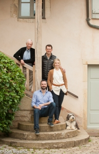 Jacques,Jeremy and wife Diana with Alex and the dog.