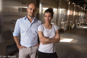 Co-hosts Erwan and his sister Eve Faiveley
