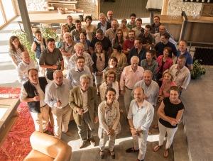 Erwan Faiveley's bottle party at the new La Framboisiere winery in Mercurey.
