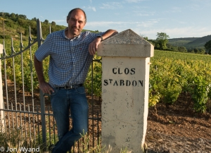Philippe Colin at Clos St Abdon, part of Les Chaumées in Chassagne.