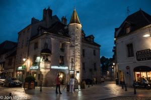 Beaune at dusk, the work begins.