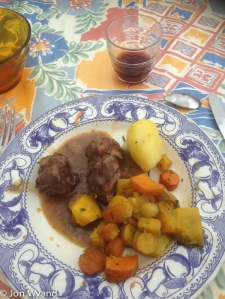 Then boeuf bourguignon with organic carrots